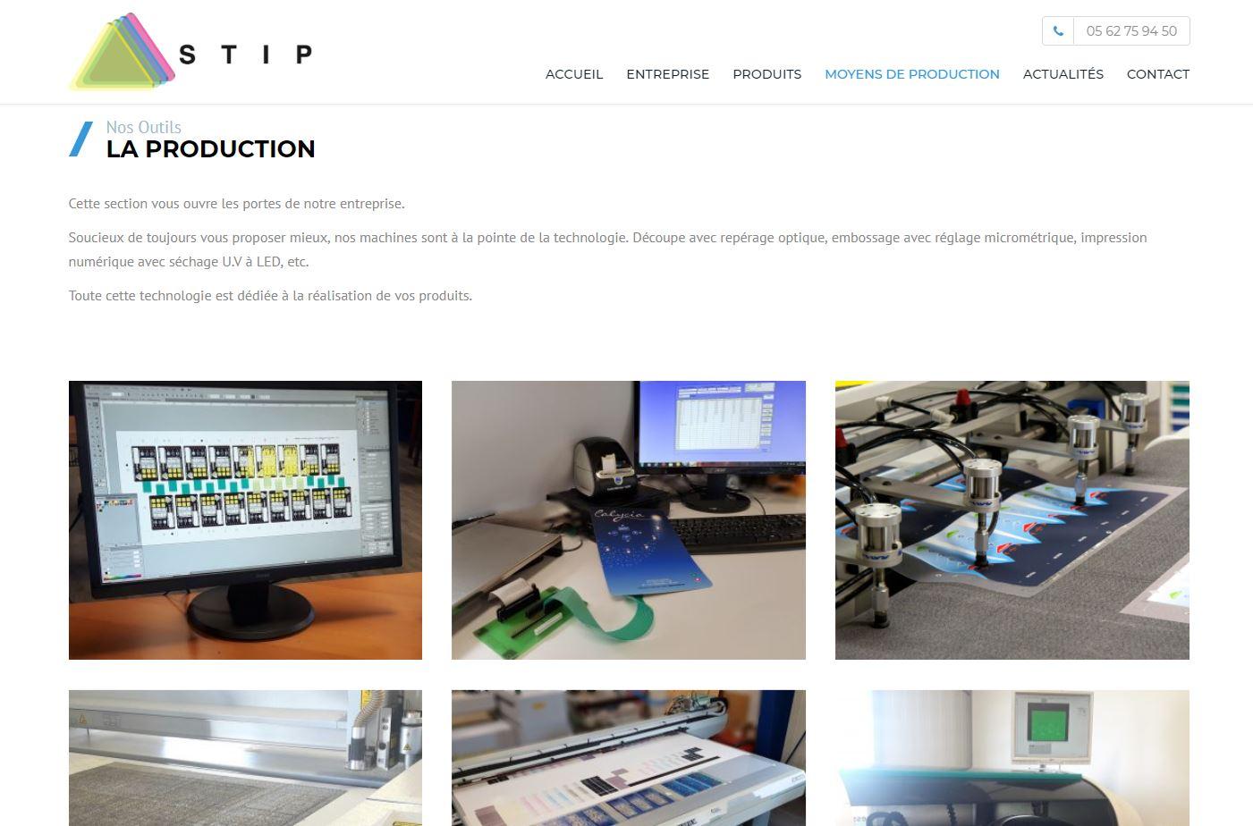 Un site web pour présenter une activité industrielle